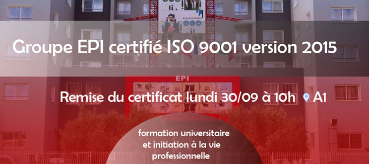 Obtention du label ISO 9001 version 2015